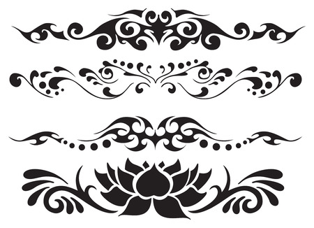 vector decoration floral ornament