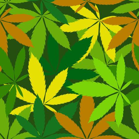 ganja: vecteur transparente motif de feuilles de cannabis