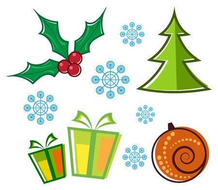 vector set of Christmas symbols Vector