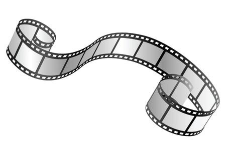 photographic film: vector film strip