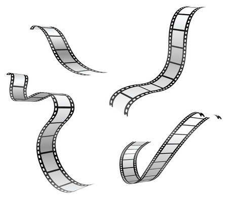 vector set of film strip