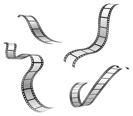 vector set of film strip
