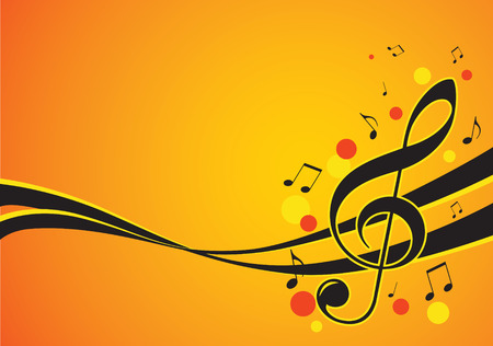 yellow note: music festival graphic vector illustration Illustration