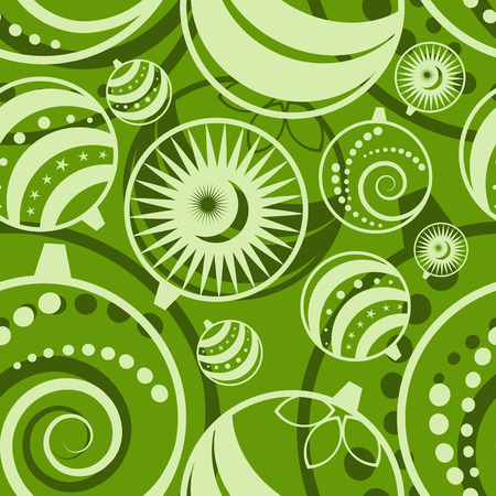 vector green seamless christmas background Illustration