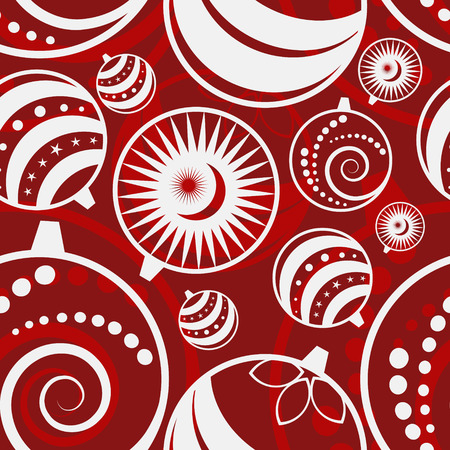 vector red seamless christmas background