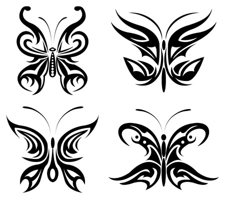 vector set of butterfly Vector