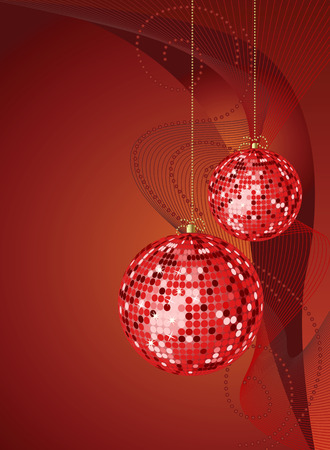 vector abstract background with Christmas ball Vector