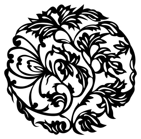 chinese vector floral element design