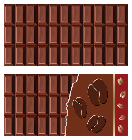 nutritive: vector chocolate bar Illustration