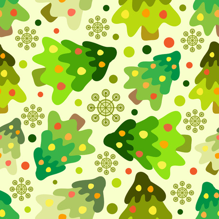 vector seamless pattern of christmas tree