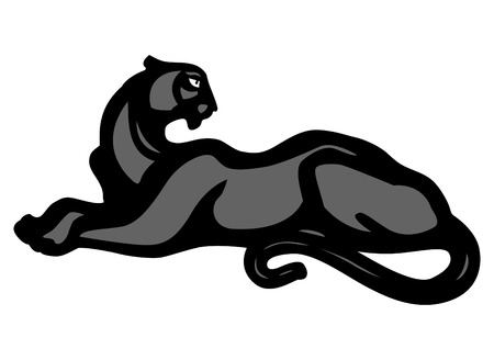 panther vector black silhouette