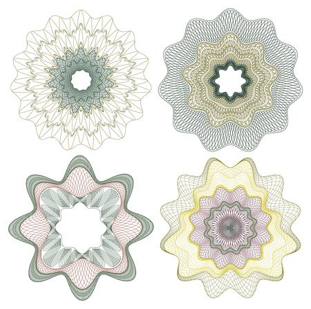 vector pattern rosette guilloche  Illustration