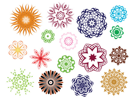 vector ornamental rosette set