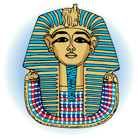 king tutankhamen vector egyptian death mask