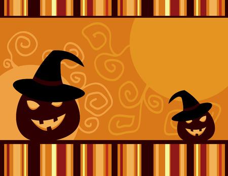 vector retro Halloween card Vector