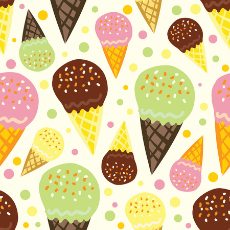 seamless pattern of ice cream Illustration