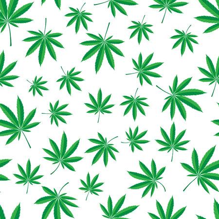 中毒性の: 大麻葉のシームレスなパターン