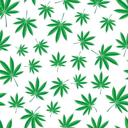seamless pattern of cannabis leaf Stock Vector - 6465998