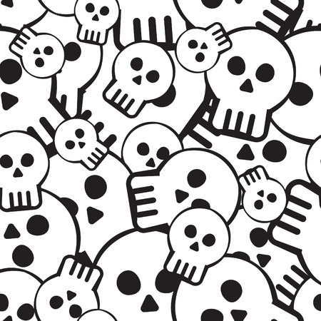 seamless pattern of skulls