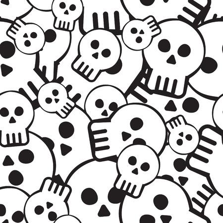 seamless pattern of skulls
