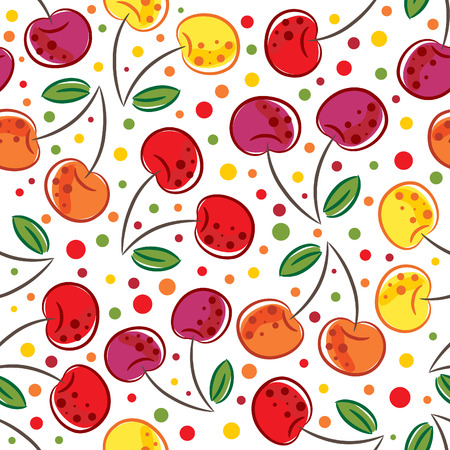 seamless pattern of cherry