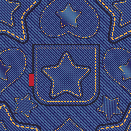 Jeans  seamless pattern Vector
