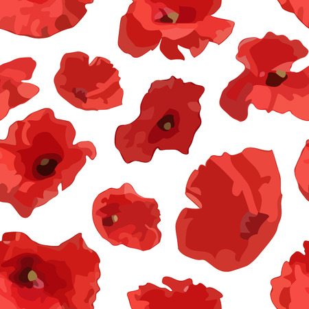 seamless pattern with poppy Stock Vector - 6465993
