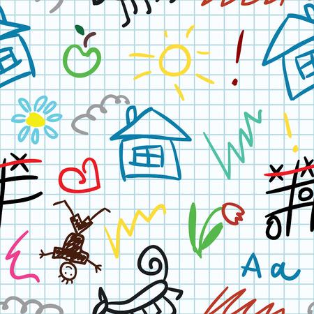 baby school  seamless pattern