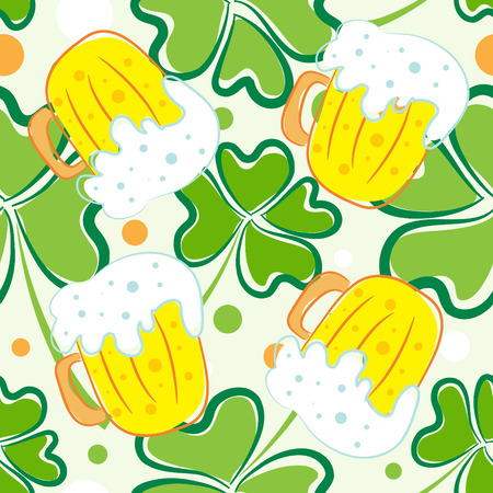seamless pattern of St. Patricks day Vector