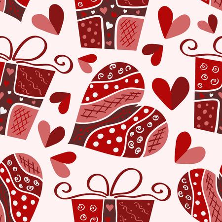Valentijns naadloze patroon