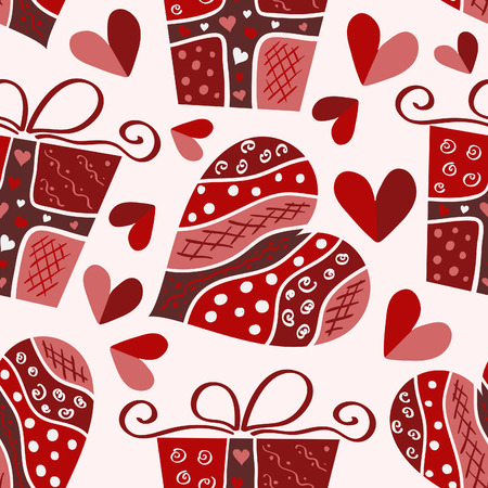 wrapping paper: valentine seamless pattern