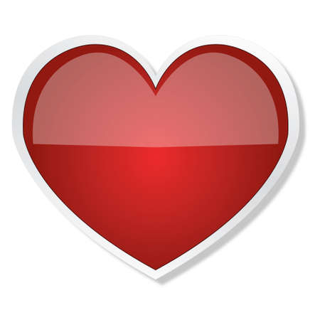 Simple glossy heart Stock Photo - 11793017