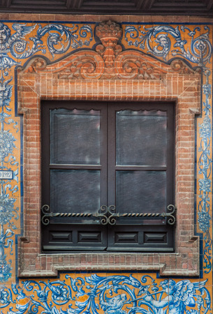 traditional window in Spain with extravagant decoration
