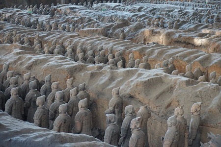 Terracotta army warriors in Xian China
