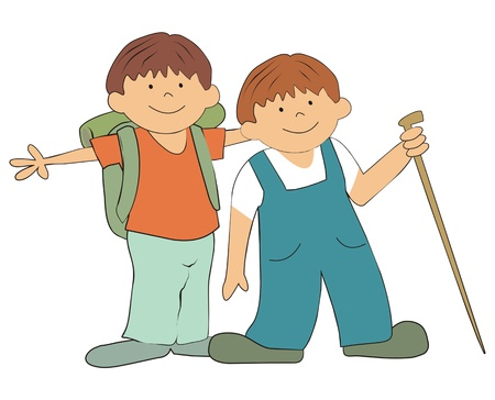 ramble: boys on the trip Illustration