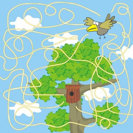 puzzlement: bird-labyrinth