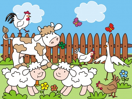 farm - baby animals Vector