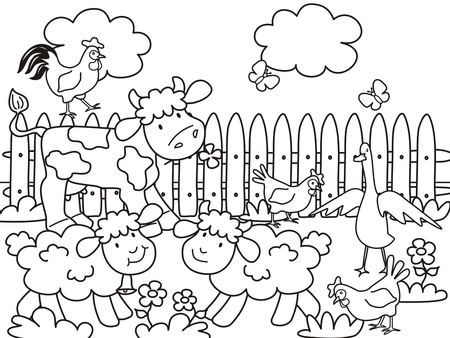 farm-coloring book Çizim