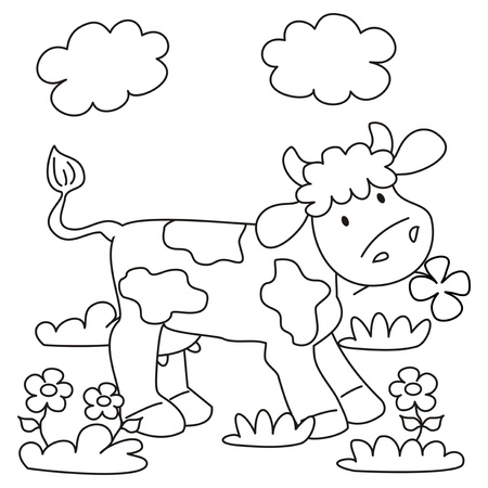 Cow - Coloring Book Royalty Free Cliparts, Vectors, And Stock ...