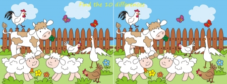 farm -10 differences Vector