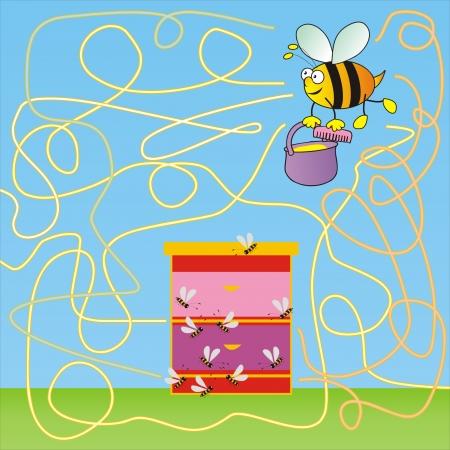 warren: bee-labyrinth Illustration