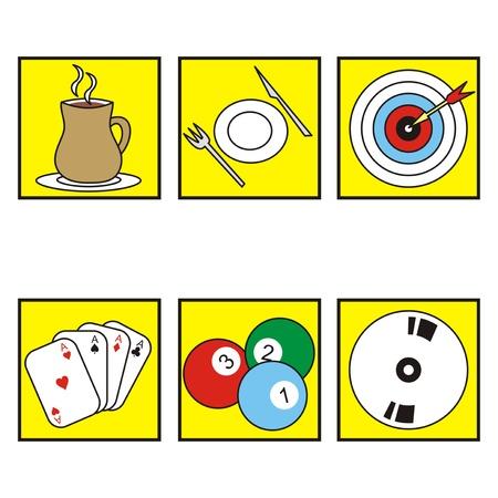 delectation: symbols-restaurant Illustration