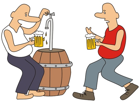 intoxicant: beer drinkers