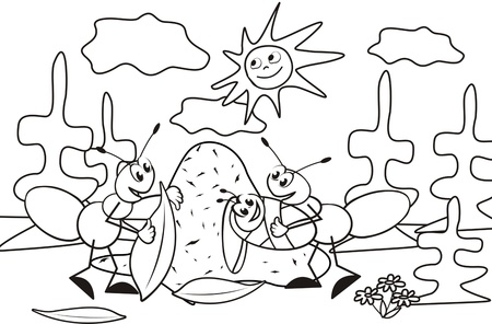 anthill: ant-coloring book