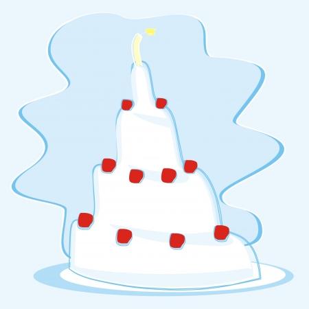 junket: cake Illustration