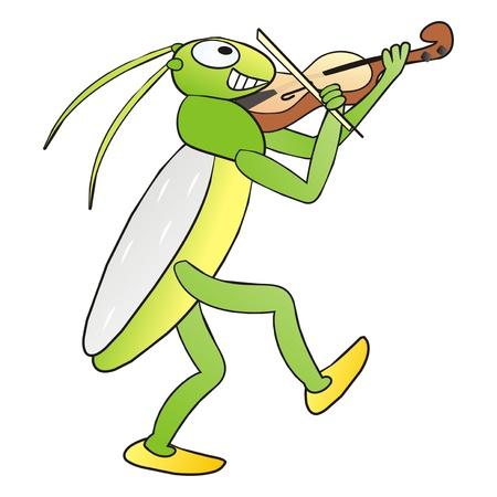 locust: grasshopper Illustration