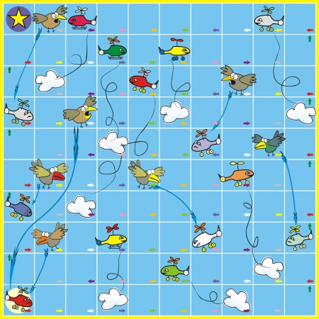 Board game - birds and planes photo