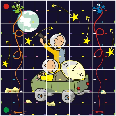 delectation: game - cosmos Illustration