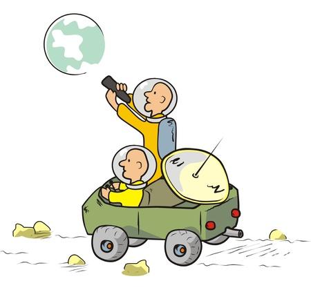 moon rover: jeep Illustration