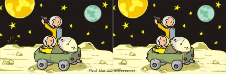 moon rover-find 10 differences Stock Vector - 20610066